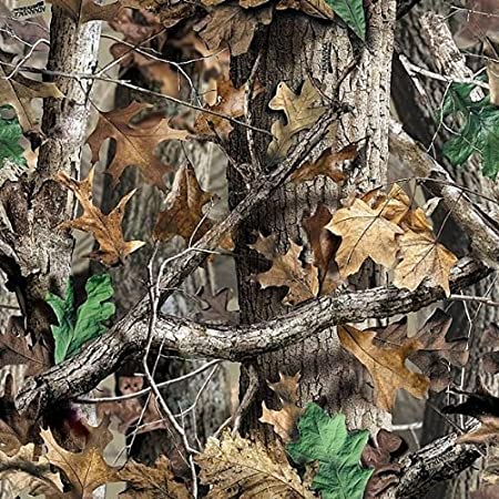 Mossy Oak Woodland Camo Printed area measure 7.5x9 inches (1/4 Sheet) Whimsical Practiality 12WoodlandCamo1/4