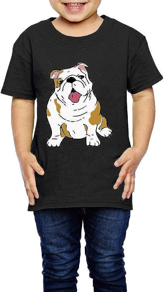 2-6 Years Old Kcloer24 English Bulldog Girls Boys Cute T-Shirt Short Sleeve Tee