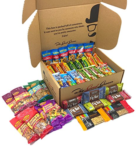Healthy Bars and Nuts Care Package (50 Count) by The Good Grocer - Variety Pack, Office Snacks, School Lunches