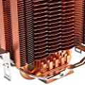 Fasmodel - PCCOOLER S83 cpu cooler Copper plating fins 2 heatpipes 80mm/8cm silent fan CPU cooling radiator fan for AMD for Intel 775 1155