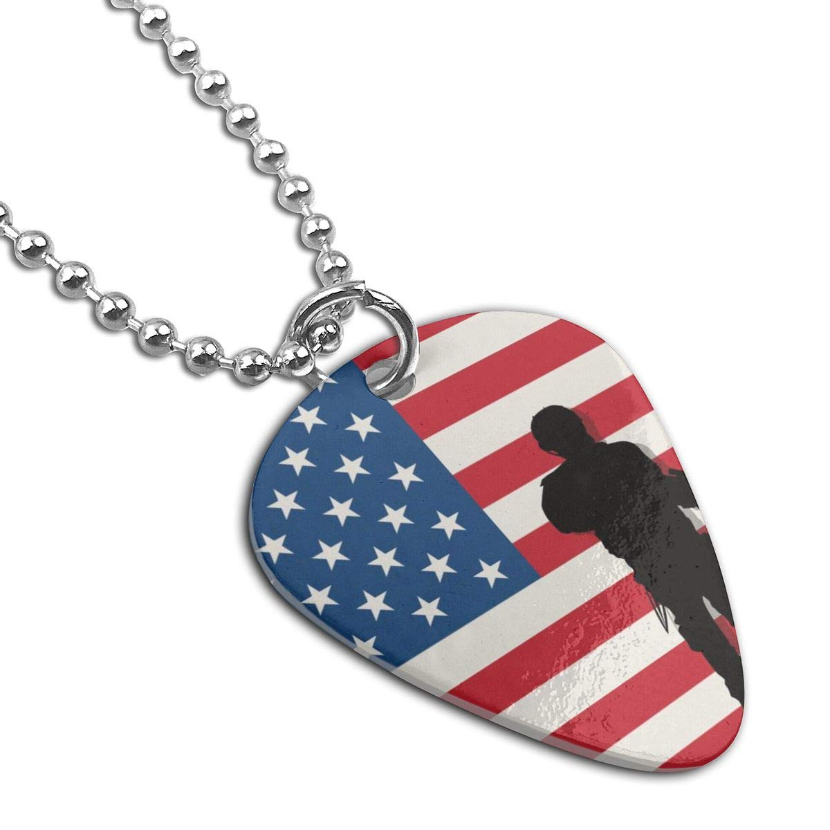 Armed Soldiers Custom Guitar Pick Pendant Necklace Keychain