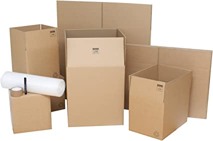 Medium Cardboard Box Flat Pack Moving Removal Storage Kit Office House Student