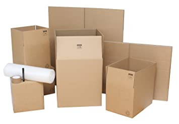 Moving boxes – Pack de 10 fuerte doble pared Lightning Branded cartón casa embalaje cajas ideal