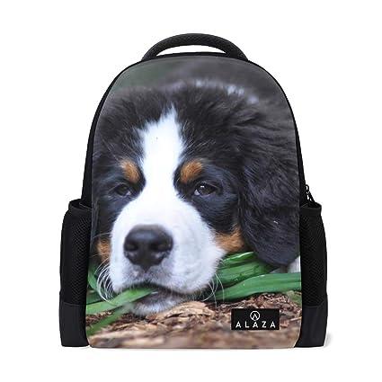 1b6c91afe76f Amazon.com: Backpack Bernese Mountain Dog Cute Mens Laptop Backpacks ...