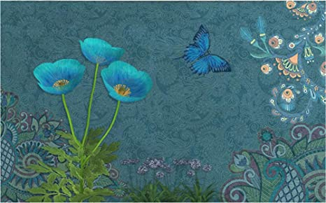 Hdoubr Hand Painted Romantic 3d Floral Mural Wallpapers For Living