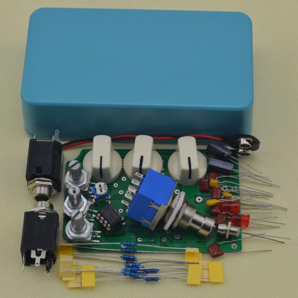 TTONE DIY Distortion Guitar Pedal Kit DS-1 Lake Blue