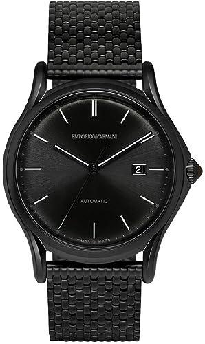 e95a128ed7a7 Emporio Armani Reloj para hombres Fabricado en Suiza automático acero  inoxidable reloj de vestido