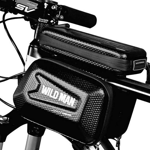 BFHCVDF Wild Man Bolsa de Cuadro Delantero de Bicicleta MTB ...
