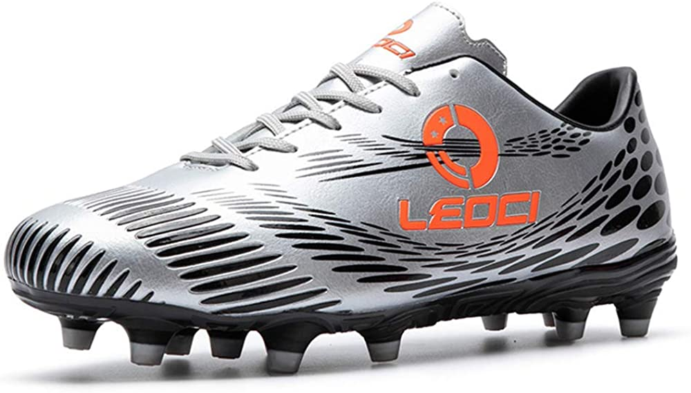 LEOCI Soccer Shoes Men - Performance Outdoor Soccer Shoes for Kids Soccer Cleat