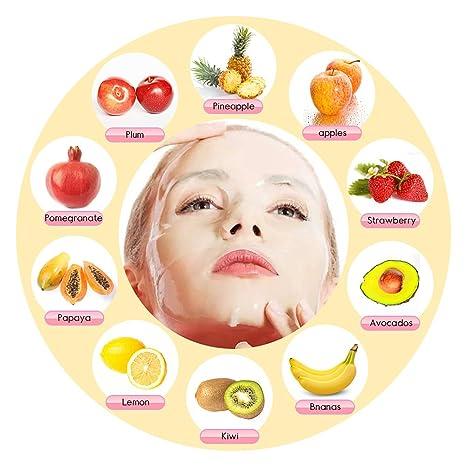 hailicare fruta Máscara facial máquina cara eléctrica con 32 cuenta Colágeno Tablets: Amazon.es: Belleza