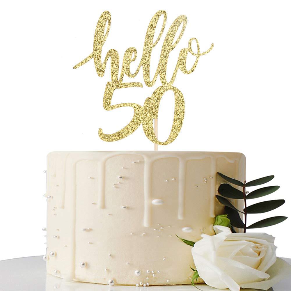 Decoración para tarta de 50 cumpleaños y 50 aniversarios ...