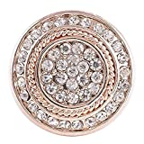 My Prime Gifts Interchangeable Snap Jewelry Rhinestone Rose Gold Clear Halo