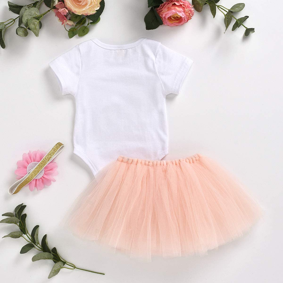 Red Tutu Skirt Set Newborn Baby Girl Clothes My First Valentines Day Outfits Romper Bows Headband 3pcs Infant Set