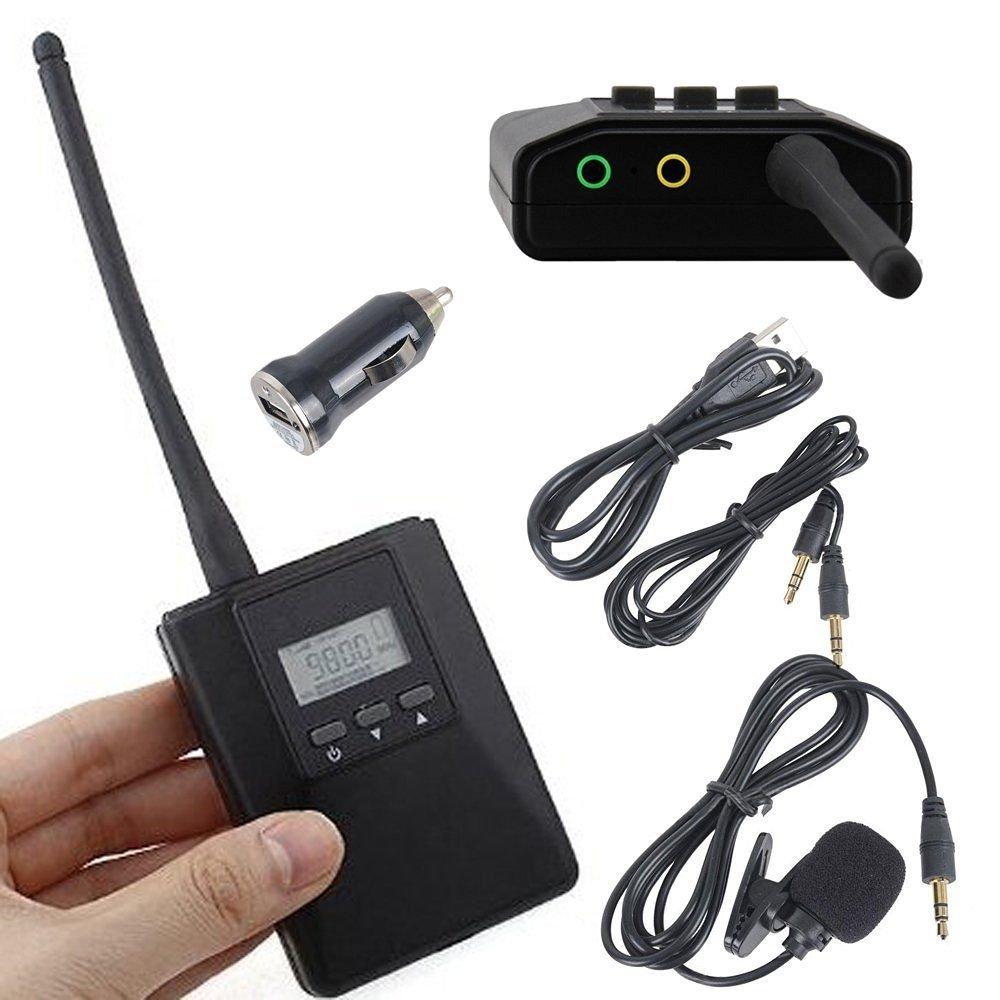 Douk Audio 0.2W Portable Mini Stereo FM Transmitter Power Long Radio Broadcast Audio Sender