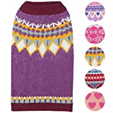 Blueberry Pet 5 Patterns Icelandic Lopi Feather Yarn Pullover Dog Sweater...