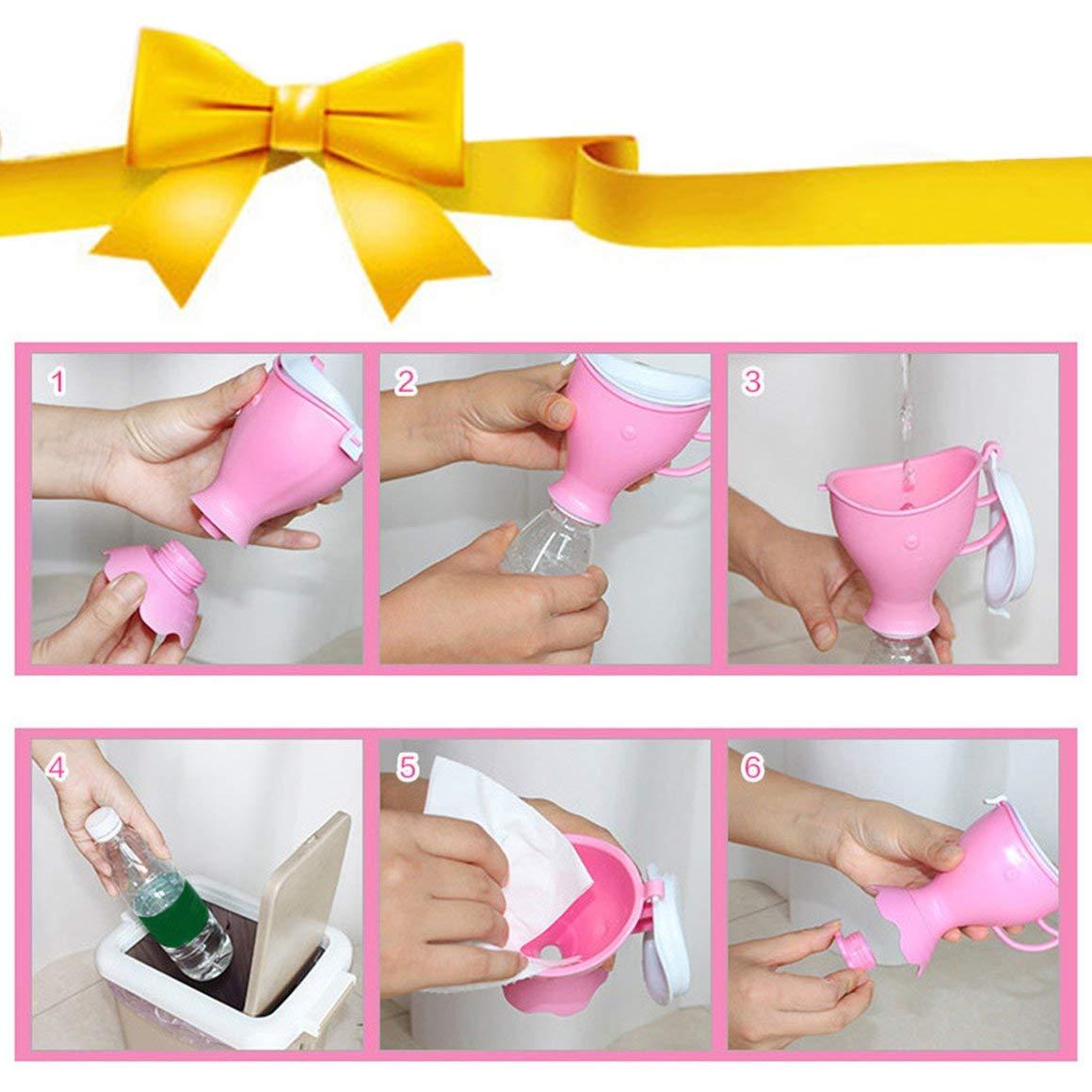 Funnyrunstore orinatoio portatile per bambini pratico vasino pip/ì campeggio auto toilette bambino unisex per uso domestico e viaggi non tossico non odore colore: rosa