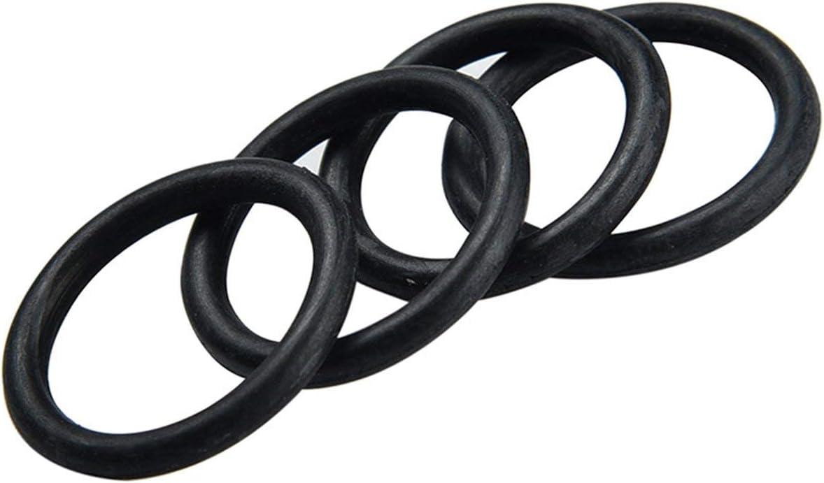 Ballylelly 225 Pcs Noir NBR O Ring Oring Assortiment Rondelle Joint D/étanch/éit/é O-Ring Kit avec Bo/îtier En Plastique