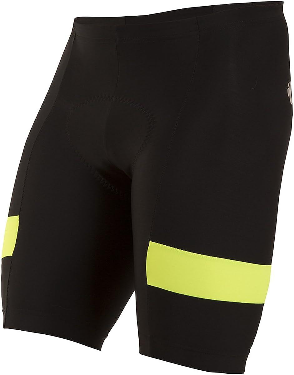 PEARL IZUMI Men's Escape Quest Splice Shorts, Black/Screaming Yellow, Small