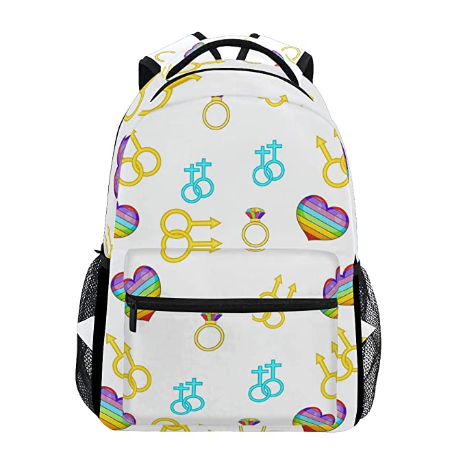 Amazon.com: Fashion School Backpack Gay And Lesbian Art Casual Daypack  Large College Bookbag Slim Business Backpack Classic Travel Computer Bag