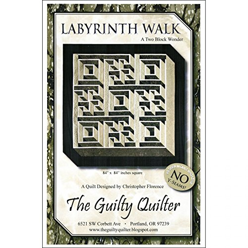 Labyrinth Walk A Two Block Wonder QUILT PATTERN PTN 2122 NO YSeams 76 by 76 inches