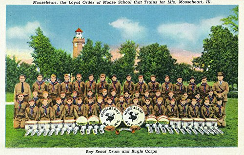 Mooseheart, Illinois - View of the Boy Scout Drum and Bugle Corps (24x36 SIGNED Print Master Giclee Print w/Certificate of Authenticity - Wall Decor Travel ()