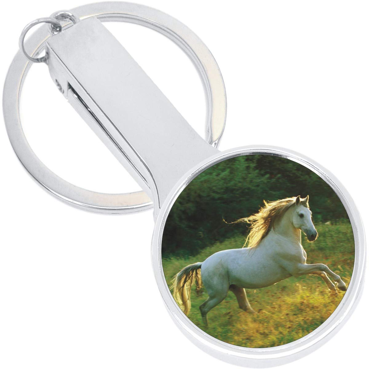 White Horse Purse Hanger with Keychain