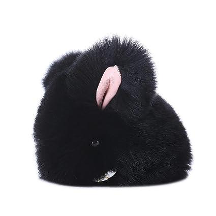 Amazon.com: Voberry conejo pelo sintético Tassel Llavero ...