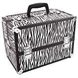Large Portable Aluminum Beauty Cosmetic Makeup Jewelry Carry Case Salon Box - Zebra By Allgoodsdelight365