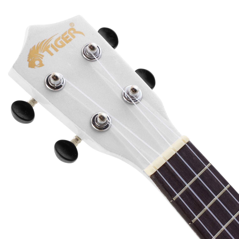 Tiger UKE7-WH - Funda para ukelele soprano para principiantes, color blanco: Amazon.es: Instrumentos musicales
