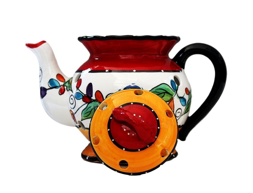 Tuscan Casa Cortes Hand Painted Tutti Frutt Collection Ceramic Electric Tart/Wax Burner 8-1/2''H, 89564 By Ack by ACK (Image #2)