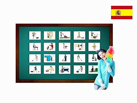 Amazon com: Tarjetas de vocabulario - Tareas - Chores and