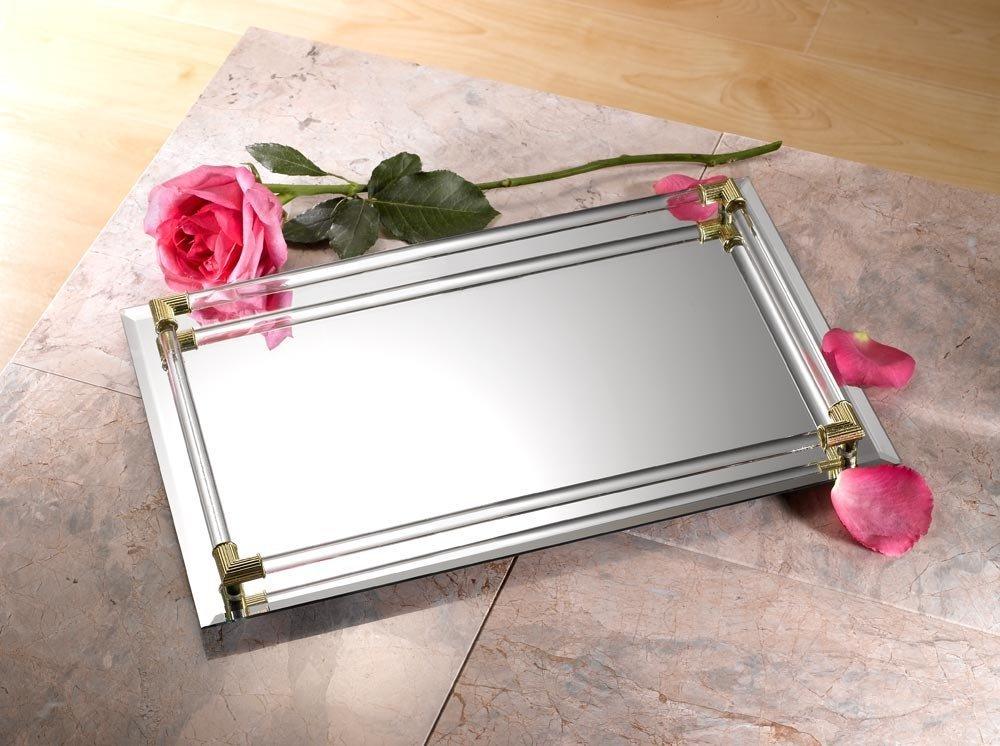 Vanity Tray For Bathroom Amazon Com 8x11 Mirror Vanity Tray Perfume Cologne  Storage Holder
