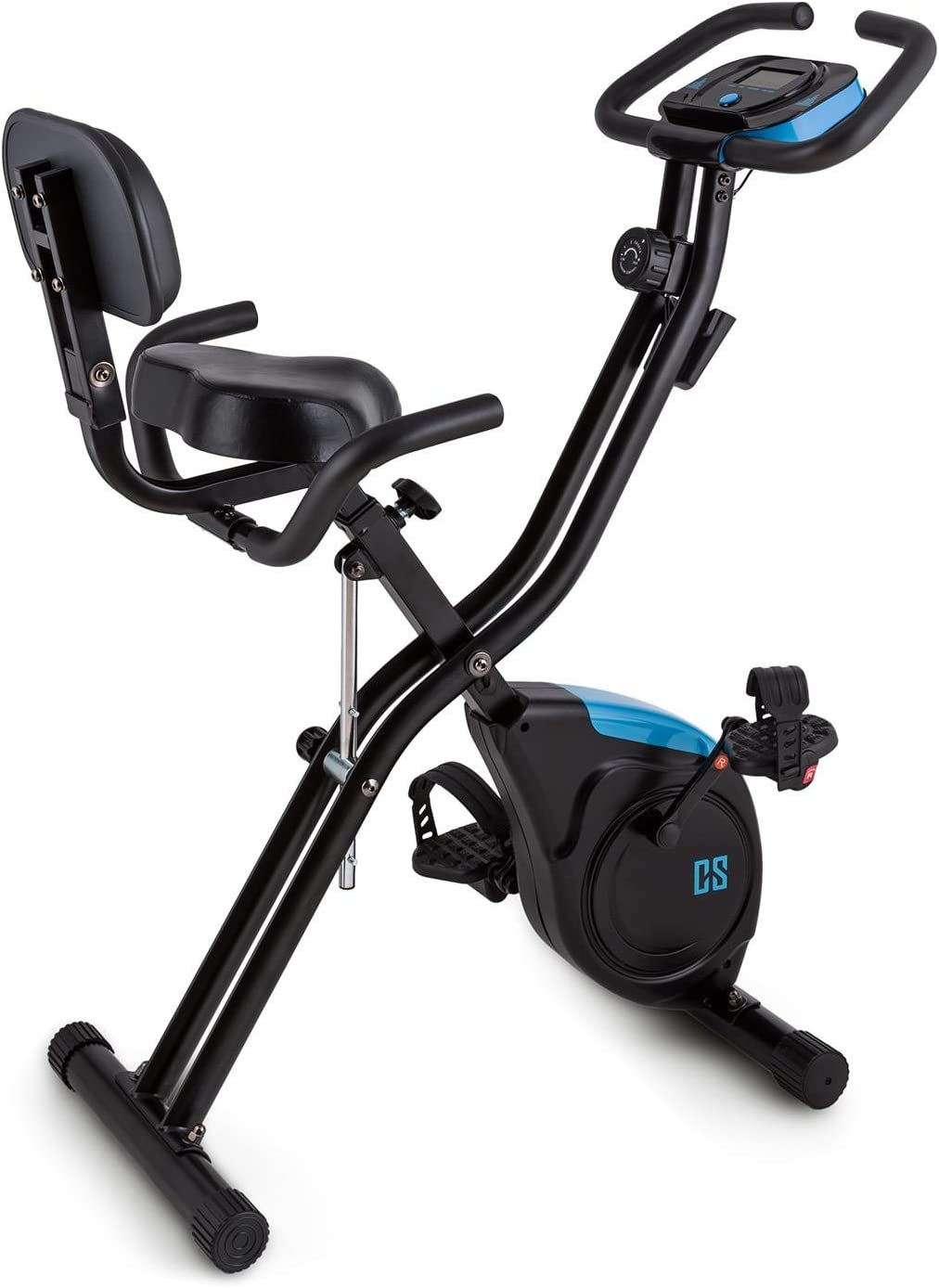 Capital Sports Azura 2 Bicicleta estática Plegable (3 kg de Masa oscilante, sillín Extra Ancho, 8 Niveles de Resistencia, Monitor de Entrenamiento) - Negro: Amazon.es: Deportes y aire libre