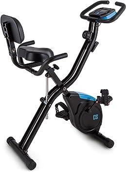 Capital Sports Azura 2 - Bicicleta estática plegable, Altura regulable en 7 niveles, Carga máx. 100 kg, Masa oscilante de 3 kg, 8 niveles de ...