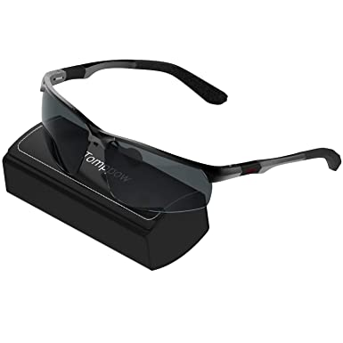 8e86407501 Men s Driving Sunglasses Sport Sunglasses Al-Mg Metal Eyewear Fishing Golf  (Black)