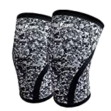 C.J. Rodilleras | Protecciones Deportivas | Soportes para Pesas | Soportes de Peso Libre Béisbol Basquetbol Jogging | Slip-Proof Compression Knee Sleeves 360°Supportive Knee Pads Four Sizes 7mm for Weightlifting CrossFit Power Lifting Joint Protection Injury Recovery Running Volleyball