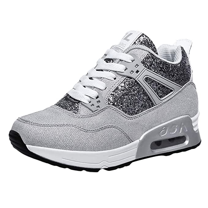 ❤ Zapatos para Correr Brillante Mujer, Fashion Women Increase Casual Shoes Wear Calzado Deportivo Student Shoes Calzado Brillant Absolute: Amazon.es: ...