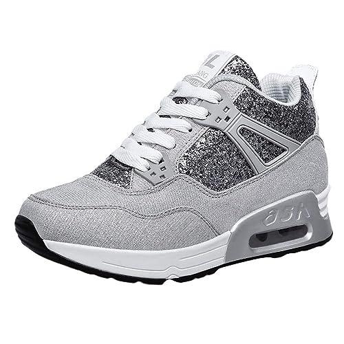 Zapatillas Deportivas,Mujeres Moda Aumentar Zapatos Casuales Usar Zapatos Deportivos Zapatos Estudiantes Zapatillas de Mujer Running Trail Gym Sneakers ...
