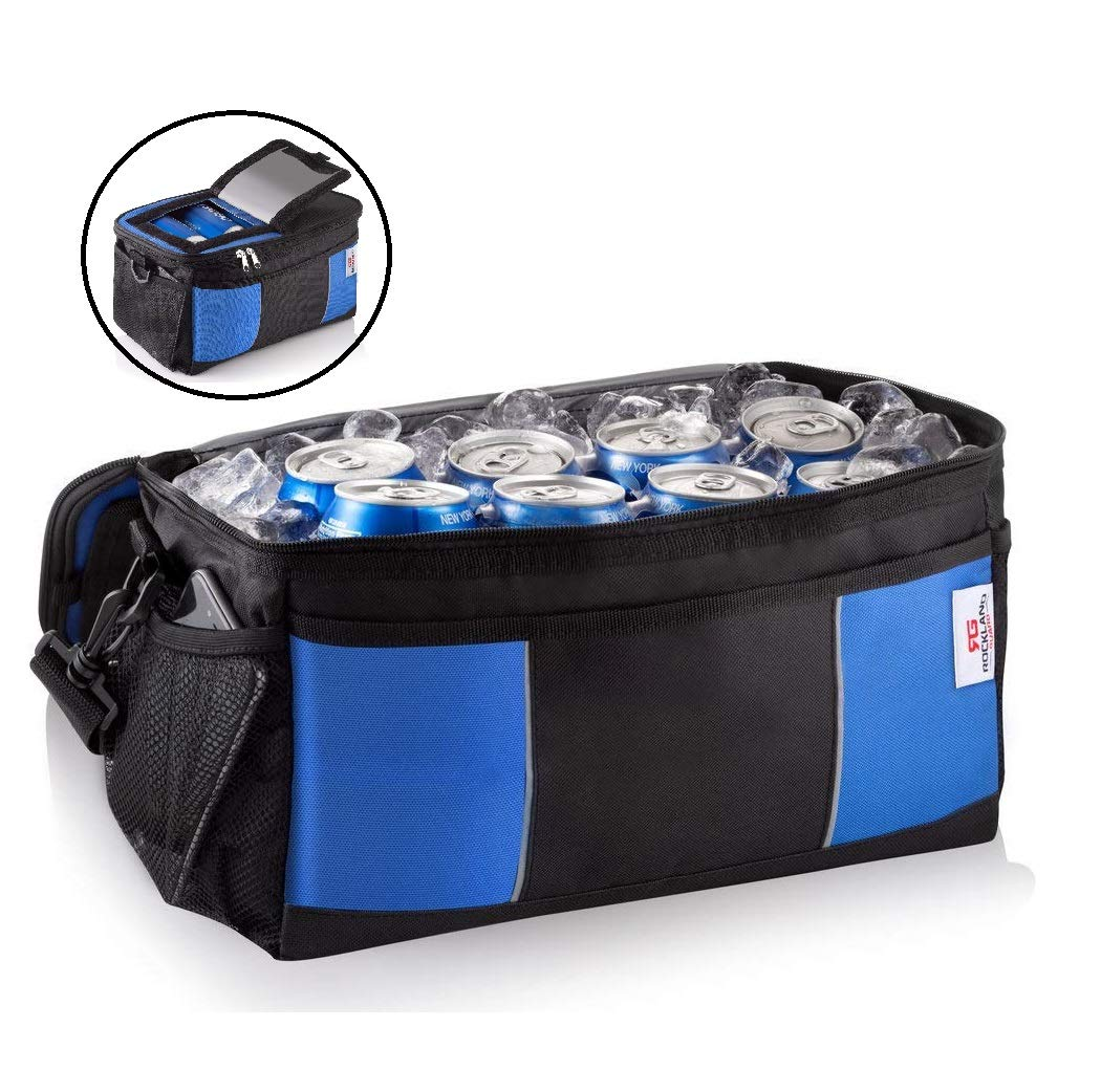 Rockland Guard Insulated 16 Can Collapsible Soft Cooler Bag with Hard Liner and Easy Access for Picnic, Camping, BBQ, Gym, Lunch or Beach.