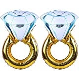 Tellpet Bachelorette Party Decorations Engagement Party Decorations, Diamond Ring Balloon, 2 Pieces