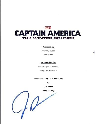 joe russo signed captain america the winter soldier movie script