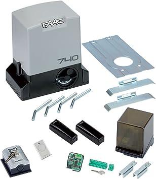 FAAC DELTA 2 KIT 230V SAFE AUTOMATIZACIÓN puertas correderas 500KG 1056303445: Amazon.es: Electrónica
