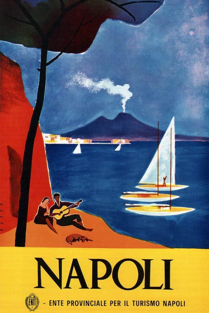 Napoli Naples Italy Seaside Resort Boating Vintage Travel Cool Wall Decor Art Print Poster 12x18