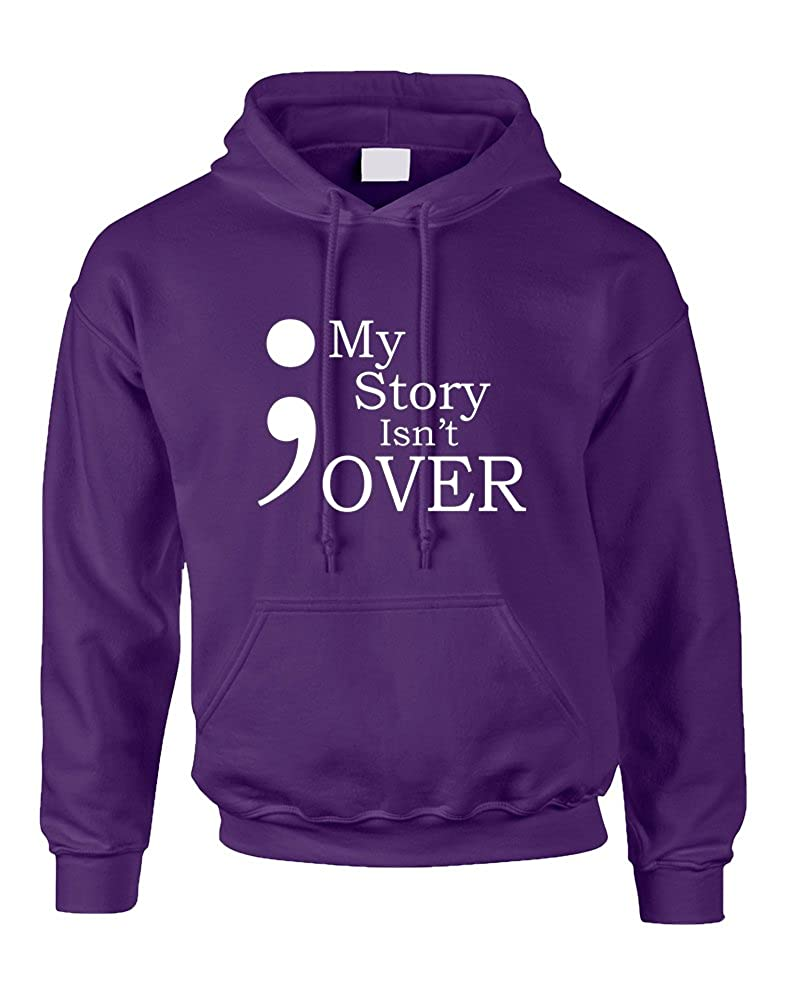Allntrends Adult Hoodie My Story Isn t Over Semicolon Hooded Top at Amazon  Women s Clothing store  74bd7e3442