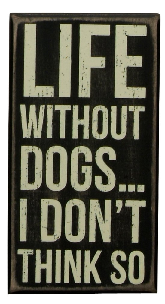 Primitives By Kathy Box Sign, 6 by 3-Inch, Dog Kisses 18747