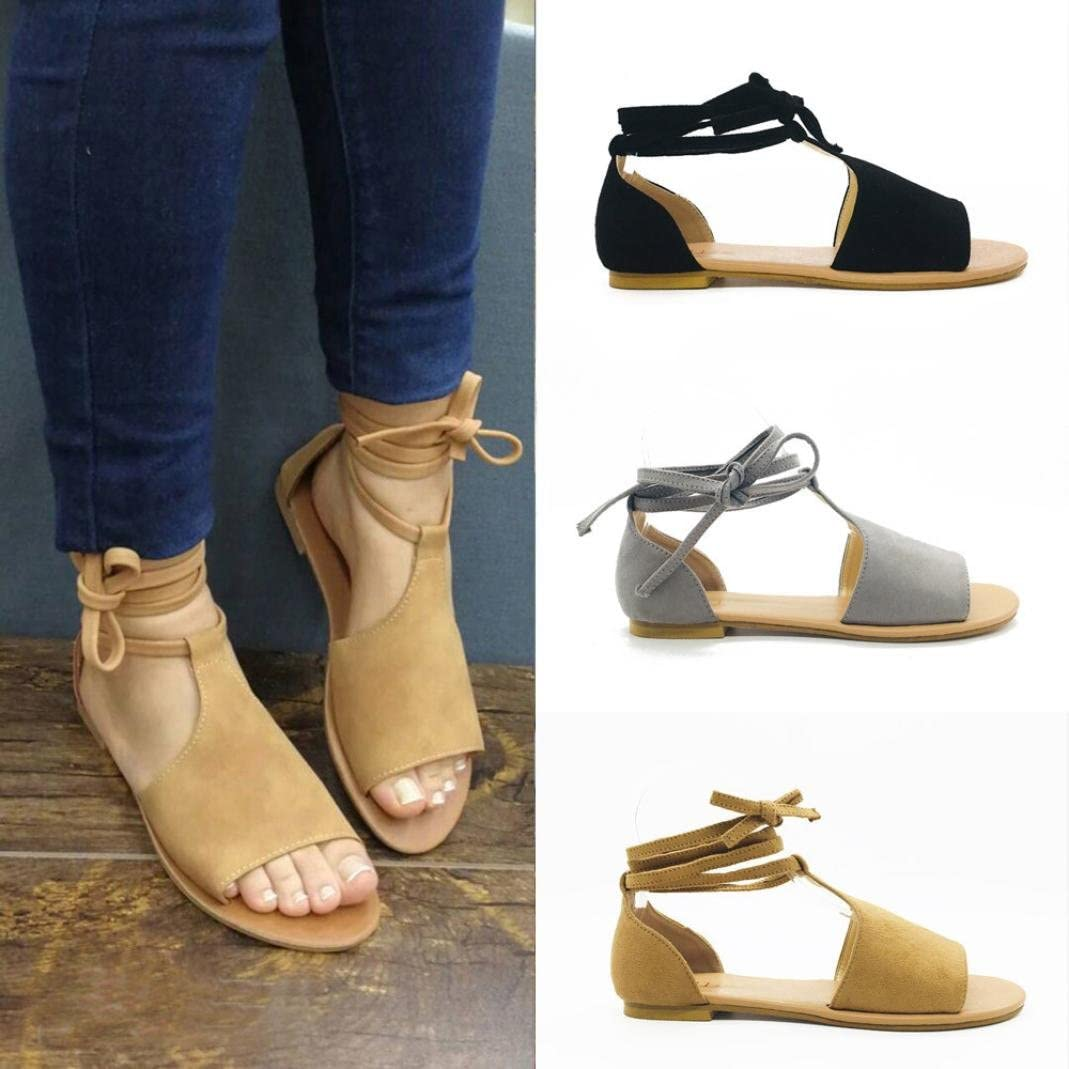 Goodtrade8 Womens Cut Out Espadrille Platform Wedge Sandals Ankle Strap Peep Toe Suede Shoes