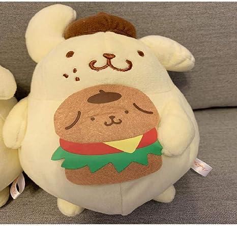 Stuffed Animal . Plush Brown with Pink Cute dog Pillow Handmade Cute Fleece Stuffed Dog Kid/'s room decor Nursery room decor