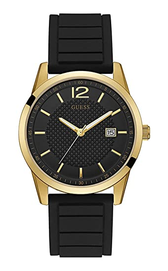 03e46a187787e Buy Guess Analog Black Dial Men s Watch-W0991G2 Online at Low Prices in  India - Amazon.in