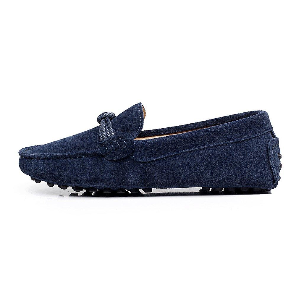 Shenn Mujer Oficina y carrera Ponerse Comodidad Casual Ante Mocasín Pisos 24309: Amazon.es: Zapatos y complementos