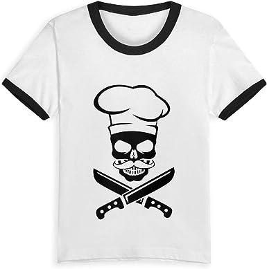 Queen Elena Skull Chef Mustache, 2-6Y Cartoon Print Boys T Shirt ...